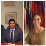 Zaher Arrabai and Alexandra Barnes Intern in Washington, D.C.